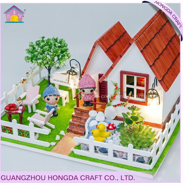 Hot sale education item,wood model kits,3d puzzle house