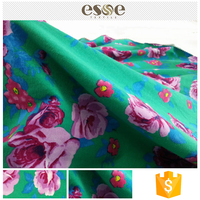 Women soft custom printed garments fabric and cotton in textile