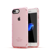 Newest Perfect Vision Mirror Transparent Black TPU Airbag Shockproof Phone Case for iphone 7