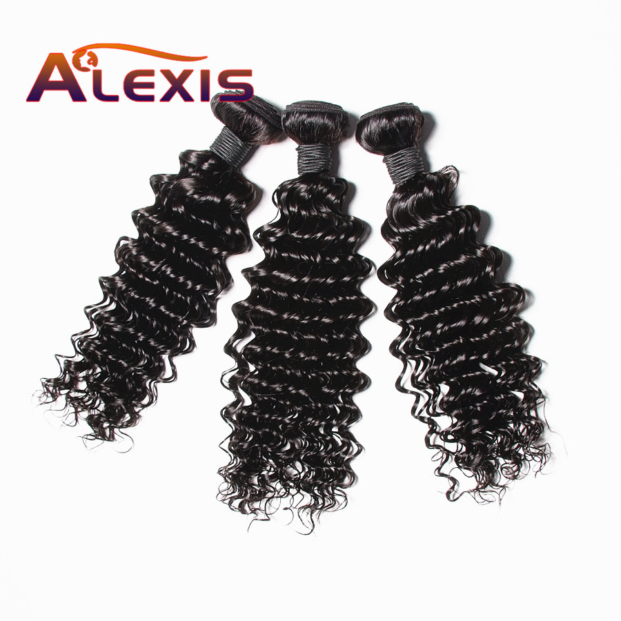 "4X4 Closure Deep Wave Brazilian Virgin Hair 100% Human Hair Weave Bundles Hair Weaving Extensions Natural Color <strong>10</strong>""-28"""