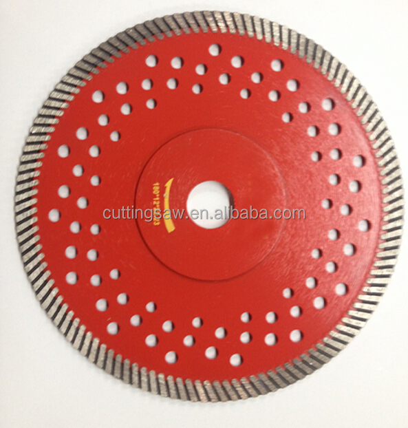 Circular saw blade turbo with cooling hole