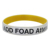 Customised dual silicone wristband,1 colour printed logo 2 layers silicone wristband