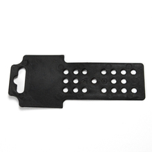 BG-H01 158x66mm Wholesale plastic hang-parcel for hardware /<strong>Flat</strong> black hang tab