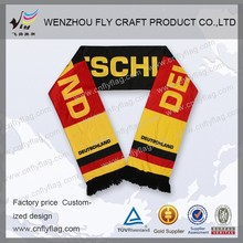 custom Black Striped European Football Fan Scarf