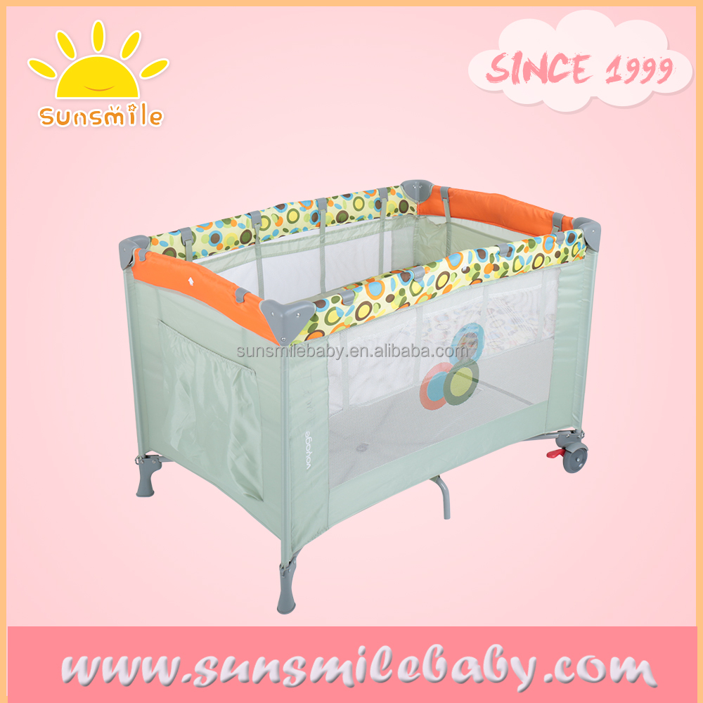 foldable crib for baby,Hot sale baby crib dimensions ,portable baby crib with safety wheel