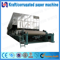 2016 hot selling 1092mm fluting paper making machine for paper board, double liner paper