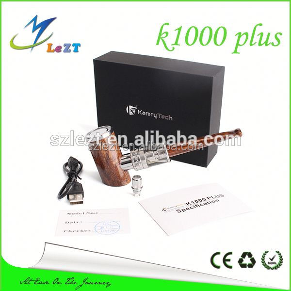 2014 Newest Epipe Kamry K1000 E Cigarette Vapor Pipe Kamry E Pipe K1000 wood color and K100 in stock