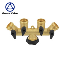 Green-Gutentop High quality 4 way brass water manifolds valve with thermostatic control