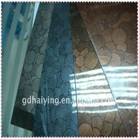 gold print double film pvc sole sheet