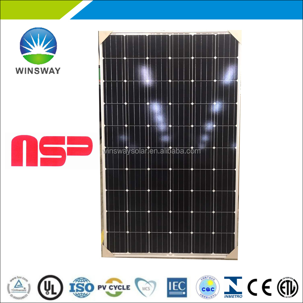 Taiwan Brand NSP 60-cell mono Solar pv module without anti-dumping duty