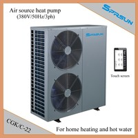SPRSUN heat pump air to water China for home heating system and hot water 22kw CGK/C-22
