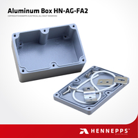 Hennepps 120*80*55 HN-AG-FA2 Outdoor IP66 Waterproof Junction Box Top Quality Electronic Aluminum Project Enclosure