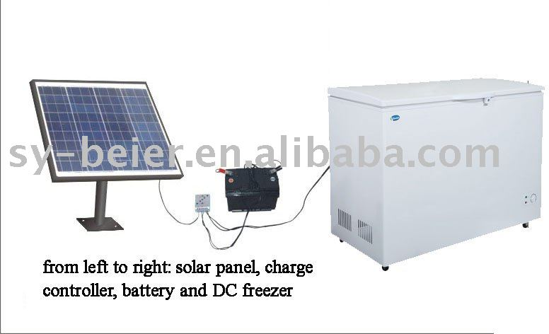 solar energy deep freezer