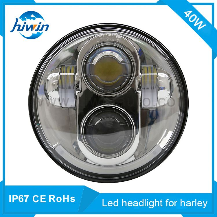 "5.75"" harley led headlight 40w 6500k hi-low beam white color for harley best motorcycle driving lights"