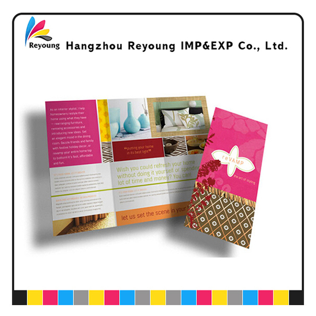 Catalogue bochure cosmetic leaflet Printing service OEM Welcomed