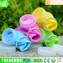 Nail Ring Silicone Foldable Water Bottle Collapsible Sport Drinking Bottle