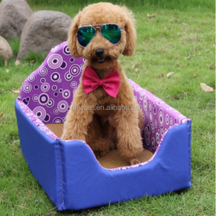 High quality reasonable price colorful pet bed wicker poly rattan dog bed