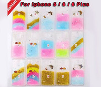 Hot Sale Luxury Rainbow Color Bling Glitter Star Soft TPU Back Cover fancy Cell Phone Case For iPhone 5S 6 6Plus