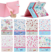 Case for ipad Air 2, for iPad Air 2 Diamond Flower Pattern Leather Case