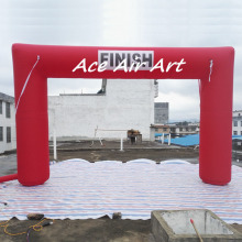 PVC Cube Square Door Arch Model Customized inflatable event game finish line red inflatable arch made in China