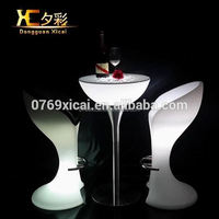 Modern Plastic Table Glowing Cocktail Tables Luminous Holiday Funiture