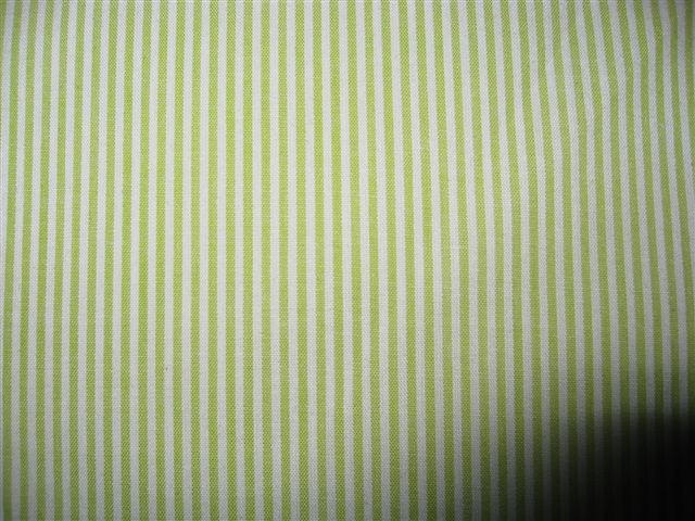 Lime green stripe cotton