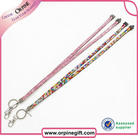 Bling bling rhinestone girly lanyard with bedge or ID holder