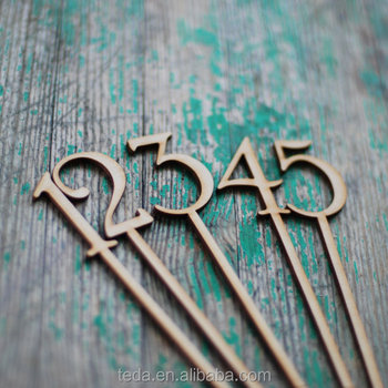 DIY lasercut wooden wedding table number