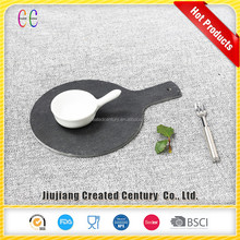 china supplier cheap price customized natural slate stone irregular shaped dish and plate,pizza paper plate