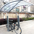 Sheltered bike rack double sided