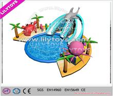 Residential Inflatable Water Slide Water Park With Inflatable Slide Outdoor Water Slide For Hot Summer