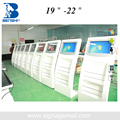 19 inch LED information kiosk price/newspaper magazine advertising with touch screen