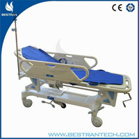 BT-TR002 China manufacturer CE ISO hospital transfer patient trolley carts, emergency trolleys for surgery