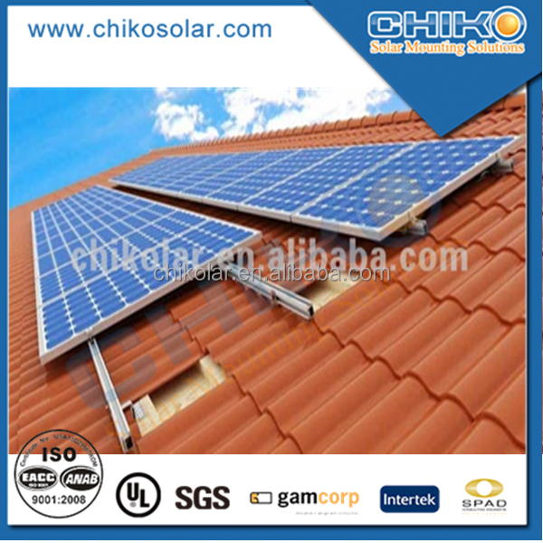 pitched roof Solar panel mounting stand / solar brackets system
