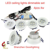 Goodlighting led ceiling lamps home depot dimmable set 4pcs 4w LED bedroom ceiling lights