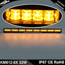 32W 90cm Waterproof high power traffic advisor slim light stick amber led warning lightbar