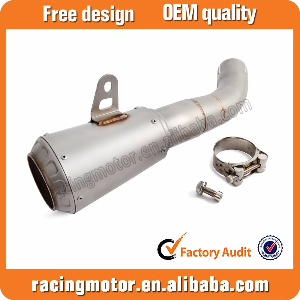 Natural Stainless Steel Slip On Muffler Exhaust Pipe For Yamaha YZF-R3 2015-2016