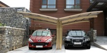 Y shape Polycarbonate solid sheet Garage Carport for 2 Car
