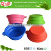 2013 Portable and unbreakable silicone dog bowl for drinking/ feeding