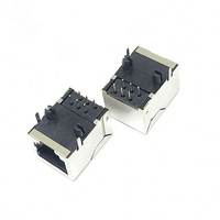 RJ45 Ethernet SOCKET 5224 8P8C DIP Network Jack with shielding copper shell female connector