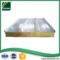 DESUMAN factory custom OEM rock wool sandwich panel/roof and wall steel panel