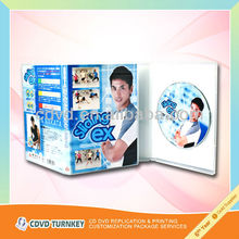 wholesale 14mm clear dvd case package with cellophane package