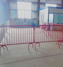 used metal powder coated removable fence