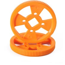 DIY plastic motor gear MXL gear 96T square hole gear orange colour