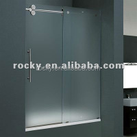 SELL 4-12mm all kinds of tempered glass door acid etched tempered shower glass door