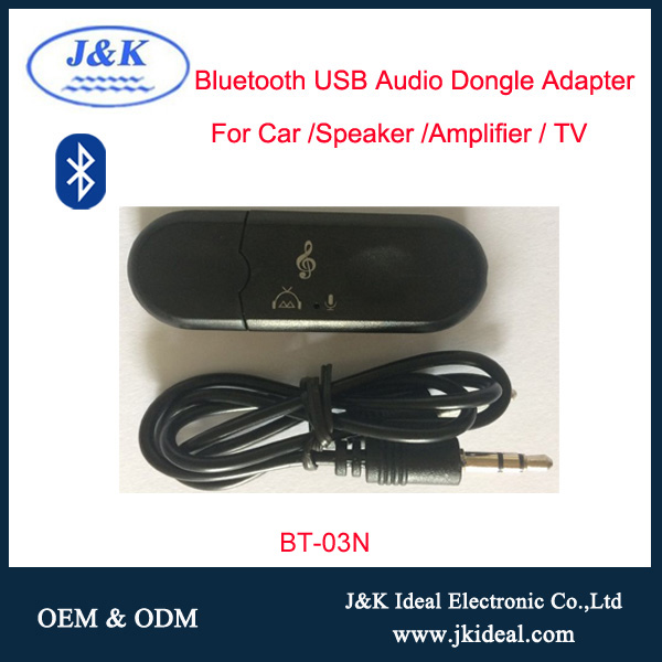 BT-01N Hot selling bluetooth usb audio adapter with mic