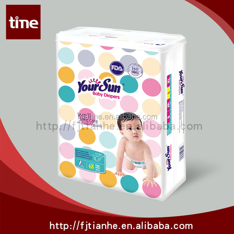 Super soft cloth-like disposable baby diaper Low Price sleepy baby diapers in bales