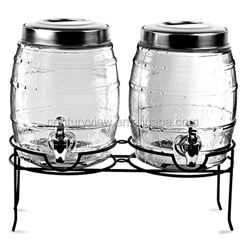 Wholesale Glass Portable Beverage Wine Dispenser With