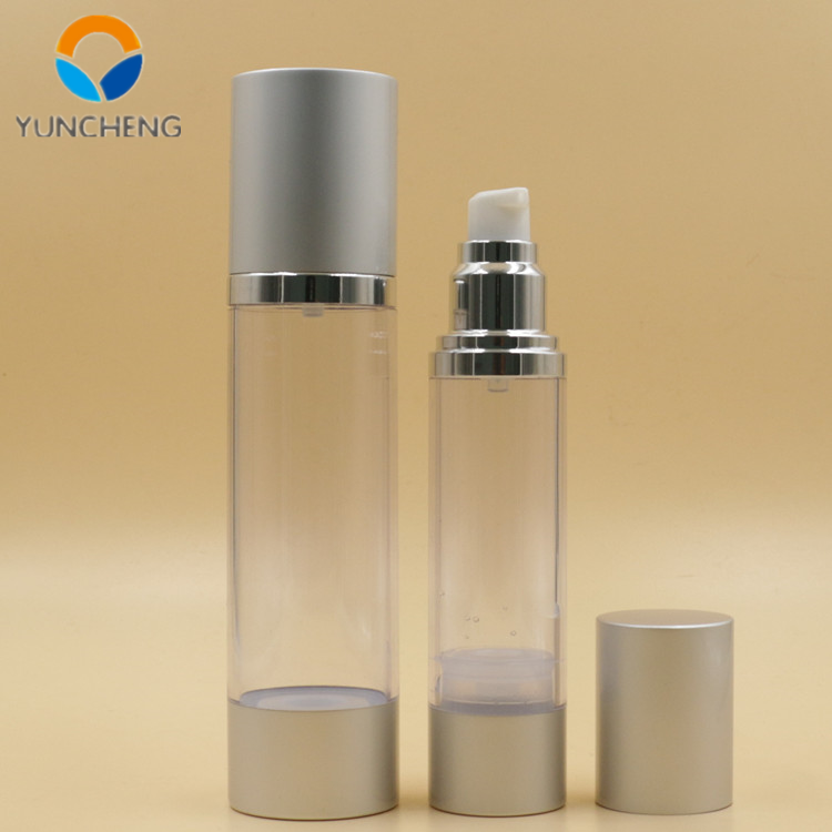 luxury aluminium vacuum lotion pump bottle dispenser 50ml serum airless bottle