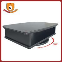 RTS-1 Black matte finish for 52-90 screen 360 degrees rotating affordable Wooden tv movable table display